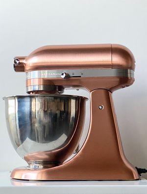 KitchenAid Artisan Satin Copper Mini Stand Mixer with Flex Edge Beater, New, *Retail $579 Model KSM3317XCP for Sale in Alexandria, VA