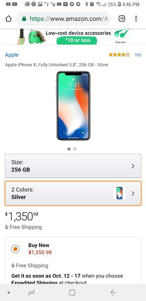 Iphone x 256 gb mint condition for Sale in Rockville, MD