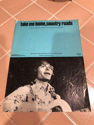 Take me home country road John Denver for Sale in La Habra, CA