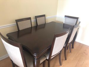 Dining table 6 chairs like new for Sale in Herndon, VA