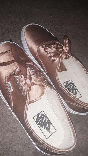 Brand new never used silk Van's with ribbon laces for Sale in El Centro, CA