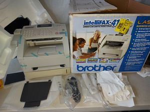 Brand New IN ORIGINAL BOX Brother Intellifax 4100e Business Class Laser Fax Super G3/33.6 Kbps ONE TRAY IS USED ONLY (CHECK PICTURES) for Sale in Lemon Grove, CA