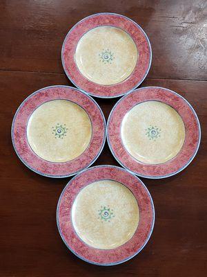 Sue Zipkin 4 Excellent condition Salad Plates. Dishwasher & Microwave safe for Sale in Sugar Land, TX