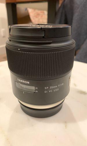 Tamron 35mm F/1.8 Di VC USD (Vibration Control, Super Sharp lens) [Canon EF Mount] Camera Lens for Sale in Seattle, WA