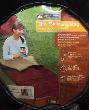 Ozark Trail +45°/+7°C Degree Cold Weather Sleeping Bag for Sale in Los Angeles, CA