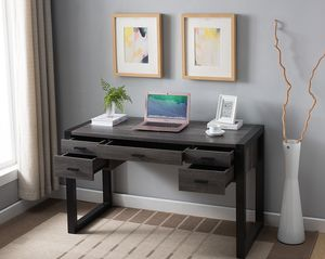 Office Computer Desk, Distressed Grey and Black, SKU 171967 for Sale in Garden Grove, CA