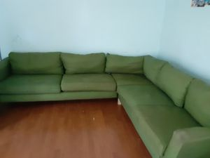 green couch for Sale in Manassas Park, VA