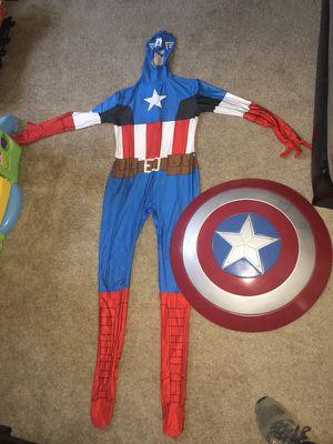 Captain america adult costume and shield for Sale in Burlington, MA