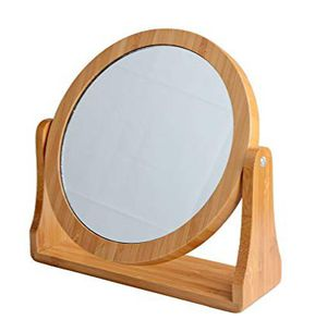 Bamboo Finish Double-Sided Swivel Vanity Mirror with 1X/8X Magnification for Sale in Hollywood, FL