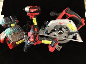 """Milwaukee 1/4"""" hex impact, 1/4"""" hammer drill for Sale in Mobile, AL"""