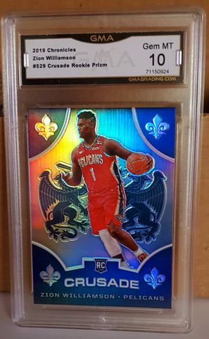 2019-2020 Chronicles Zion Williamson Crusade SILVER PRIZM ROOKIE GEM MINT 10!!! for Sale in Puyallup, WA