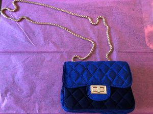 Blue velvet purse for Sale in Lorton, VA