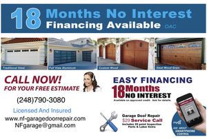 New Garage Door For As Low As $20 A month for Sale in Oak Park, MI