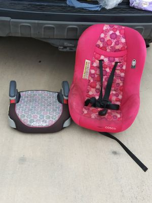 Booster seat and carseat 30$ for both for Sale in San Antonio, TX