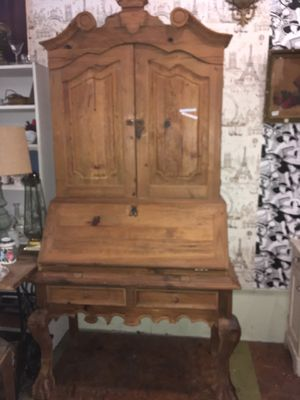 "Vintage wood Rustic farmhouse secretary desk hutch $295 43x21x83"" for Sale in San Diego, CA"