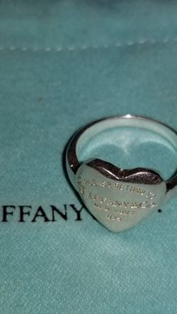 Tiffany Please Return Sterling Silver 925 Ring Size 5.5 Heart for Sale in Ravensdale,  WA