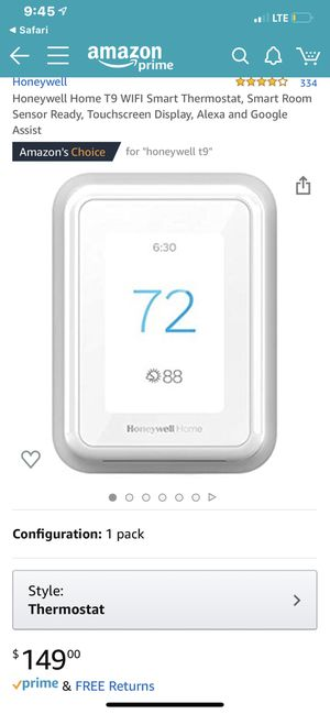 Honeywell Home T9 7 Day Programmable Smart Thermostat for Sale in Bakersfield, CA
