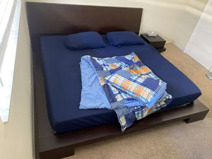 Crate&Barrel King Size Bedroom Set + Mattress + TV Stand + Night Stand + Mirror + Bin for Sale in Fort Lauderdale, FL