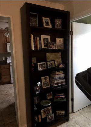 Tall espresso bookshelf for Sale in St. Louis, MO