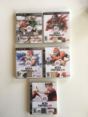 PlayStation PS3 NCAA games collection for Sale in Scottsdale, AZ