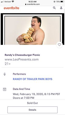 ISO: two tickets to Randy's cheeseburger picnic for Sale in Yakima,  WA