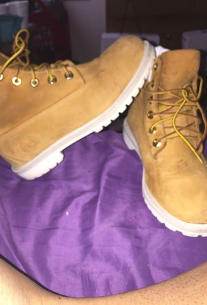 Timberlands wheat & white boots for Sale in St. Louis, MO