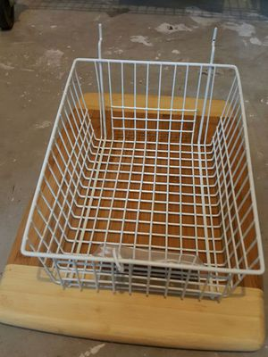 Quantity 10 available - White grid baskets retail gridwall storage 9 x 11 with 4 inch tall front storage for Sale in Ashburn, VA