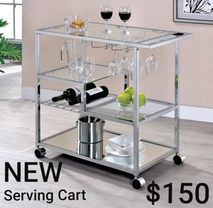 Serving Cart In Chrome for Sale in Ontario, CA