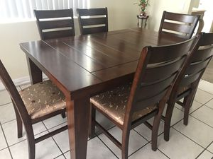 Wood dining set for Sale in Rancho Cucamonga, CA