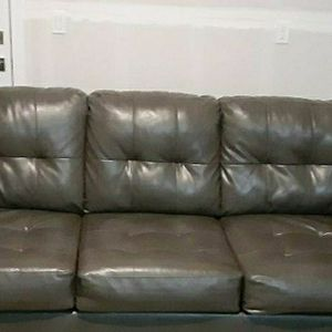 Couch Sofa Genuine Leather $200/obo for Sale in Lynnwood, WA