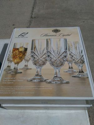 Shannon Crystal set of 12 glasses Godinger for Sale in Jacksonville, FL