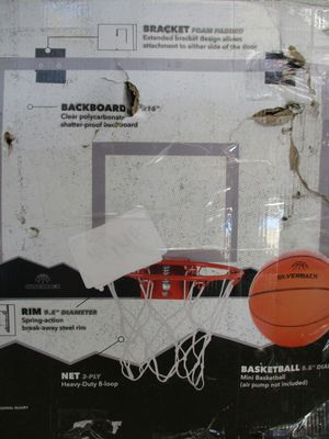Silverback The Door Mini Basketball Hoop Set with Shatterproof Backboard Perfect for Your Office and Home, Spring Action Breck Away Rim for Rough Play for Sale in Syracuse, UT