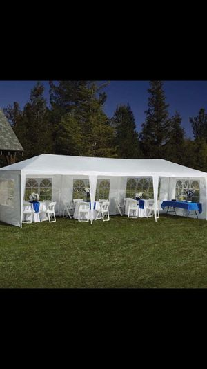 10'x30' Canopy Party BBQ Outdoor Canopy Party Waterproof Wedding Tent White Gazebo Pavilion W/6 Side Walls for Sale in Brentwood, CA