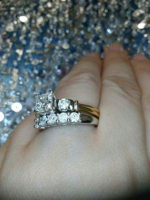 2 carat princess cut diamond engagement ring set for Sale in Atlanta, GA