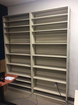 Industrial steel shelving unit - vintage office furniture for Sale in Las Vegas, NV