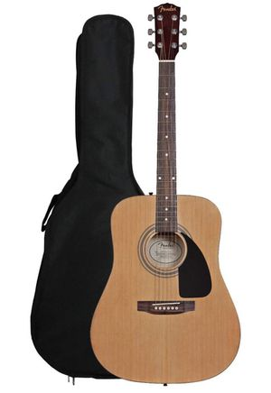 Fender FA-100 Dreadnought Acoustic Guitar with Gig Bag - Natural - Never used for Sale in New York, NY