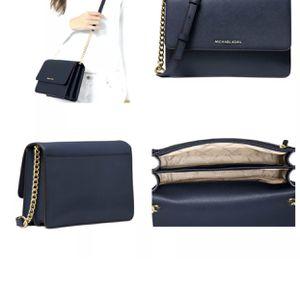 Michael Kors Daniela Large Saffiano Leather Cross-Body, Messenger Bag $198 Navy for Sale in Sugar Land, TX
