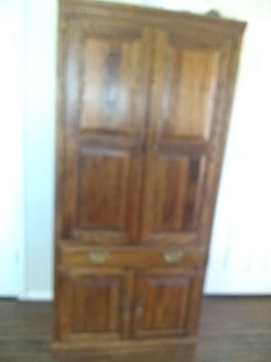 Antique Hansens Oak 3pc Armoire with side cabinets for Sale in Peoria, AZ