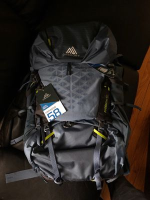Gregory 58 waterproof backpack camping hiking for Sale in Chicago, IL