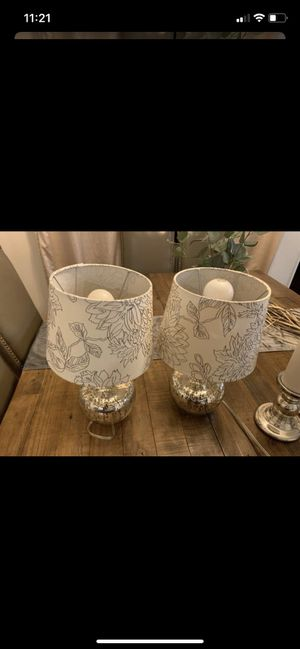 Two light fixtures lamps decor for Sale in San Diego, CA