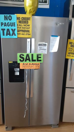 🔥🔴Whirlpool side by side refrigerator ⭐️APPLIANCES IN PAYMENTS⭐️ ❌NO CREDIT NEEDED🦋ASK FOR ANNA FOR DISCOUNT🦋 for Sale in Claremont, CA