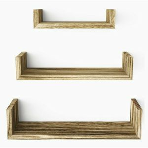 Floating Shelves Wall Mounted, Solid Wood Wall Shelves, Carbonized Black for Sale in Tigard, OR