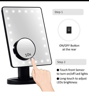 LED lighted vanity/makeup mirror with magnifier for Sale in Sanford, FL