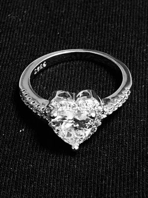 Sterling Silver Heart CZ Ring for Sale in Las Vegas, NV
