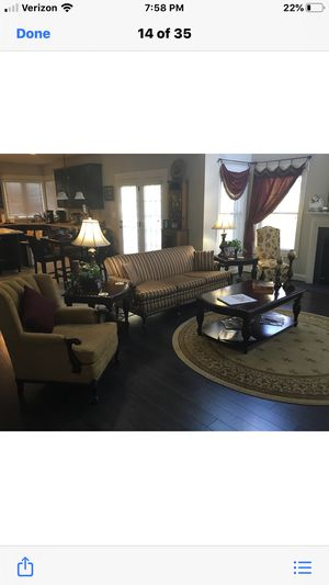 Antique claw foot couch and two matching chairs for Sale in Falls Church, VA