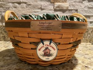 Longaberger 1999 Christmas Edition Popcorn Basket for Sale in Wildwood, MO