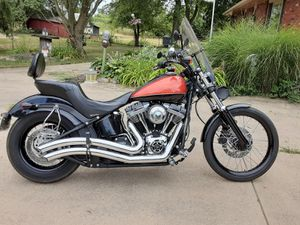 Harley Davidson custom black line very good condition extras skulls just service at low miles little beautiful bike asking 10.000 for Sale in Orient, OH