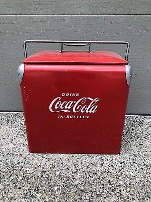 Vintage 1950s Coca Cola Cooler Antique Coke w/ Bottle Opener for Sale in Burleson, TX