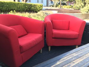 Red Two Chairs $$50 9/10 condition for Sale in San Francisco, CA