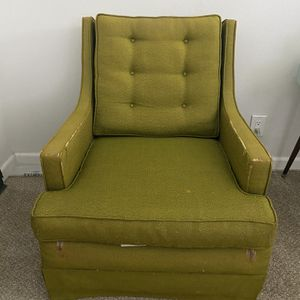 Two Vintage W. & J. Sloane Chairs: Combat Olive for Sale in Beverly Hills, CA